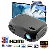1080P Portable HD Mini LED Projector Home Theater Cinema Multimedia USB AV HDMI