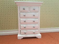 Dolls House Emporium 1:12th Scale White Chest of Six Drawers 2765