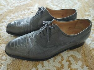 moreschi men's shoes Gray Leather Italy Size 12 Lace Up Dress