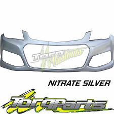 SILVER REPLACEMENT FRONT BAR COVER SUIT VF COMMODORE HOLDEN 13-15 BUMPER SS SV6