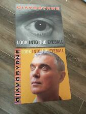 David Byrne Double Sided Promo Album Flat Look Into The Eyeball 2001 Rare