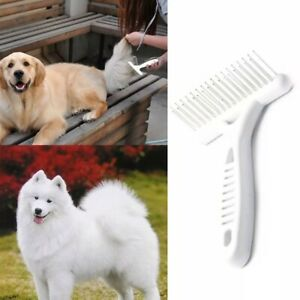 BIG DOGS! LONG HAIR DOG FUR ANTI KNOT RAKE BRUSH Grooming Detangle Topcoat Comb