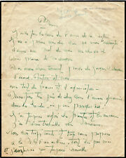 [ELUARD, BRETON et moi...] Lise DEHARME Poétesse, Lettre Autographe Signée