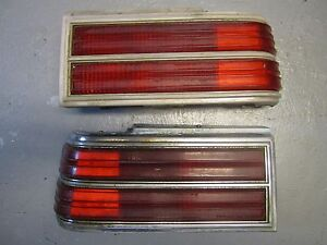 80-81 Pontiac Catalina RH LH Tail Light Lense Assemblies USED