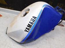 yamaha fzr1000 fuel gas tank assembly white blue 1988 1989 1990 1991 1992 1993