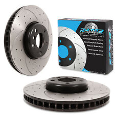 FRONT DRILLED GROOVED 348mm BRAKE DISC FOR BMW 5 SERIES F10 F11 520d 530d 535d
