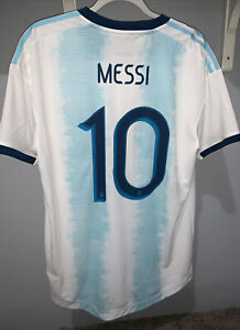 Adidas Argentina Messi AUTHENTIC Player Issue Soccer Jersey 2019