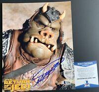 Dickey Beer Autographed Star Wars Gamorrean Guard 8x10 Photo Signed Beckett COA