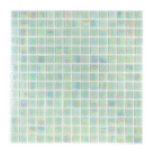 Light Green Iridescent Mosaic Glass Tile Kitchen & Bath