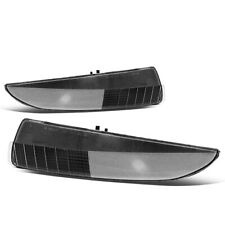 Fit 1993-2002 Chevy Camaro Black Housing Front Bumper Light Turn Signal Lamps