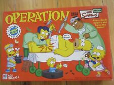 OPERATION SKILL BOARD GAME THE SIMPSONS EDITION MILTON BRADLEY
