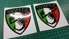 Fiat 500 / 595 / 695 Abarth Scuderia italia panel wing Decals / Stickers 100mm