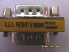 Mini-Gender Changer, Adapter, 2 x 9-polige D-SUB Stecker, verschraubbar