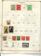 Paraguay 45 stamps vf mint & used 1903-39 5 pages from an old scott album