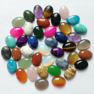 Wholesale CAB CABOCHON natural stone mixed Oval stone beads 13*18mm 50pcs