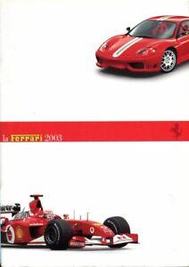 La Ferrari 2003 brochure 360 Modena & Spider & Challenge 456M 57M Maranello Enzo