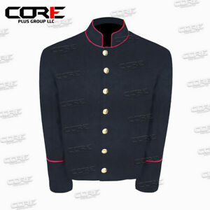 US Civil War Navy Blue Wool Shell Jacket With red PIPING Trim Size 48!