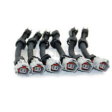 6X Denso Top Slot to Male Ev6 Fuel Injector Connector Harness Ford Crysler
