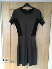 French Connection Black Gold Sparkly Dress Size 10