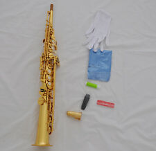 Prof. Built-in Taishan Electrophoresis Sax Bb Gold Soprano TS Saxophone withcase
