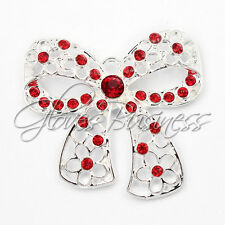 1PC 45*43mm Red Butterfly Knot Charm Pendant For Bubblegum Chunky Bead Necklace