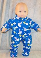 """Doll Clothes Baby Made 2 Fit American Girl 15"""" inch Bitty Sleeper Moon Star Boy"""