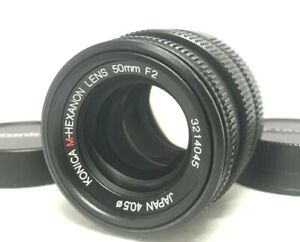 [MINT] Konica M-Hexanon 50mm F/2 Lens for Leica M Mount From JAPAN #461