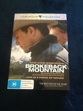 BROKEBACK MOUNTAIN DVD. PLATINUM COLLECTION. IN ITS ON COVER