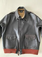 Aero Leather A-2 Classic Leather Jacket Seal Brown Jerky Horsehide UK 44 (Gr.50)