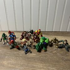Vintage Marvel Action Figure Lot Hulk Spider-Man Captain America Figures Lot