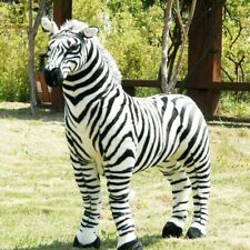 Large Plush Toy Black and White Strip Zebra Stuffed Doll Horse Kid Carnival Gift