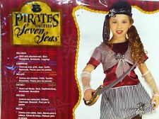New Caribbean Pirate Queen Toddler Child Costume for Girl Halloween Size Small