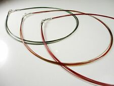 MULTISTRAND WIRE NECKLACE WITH STERLING SILVER CLASPS