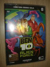 DVD N° 8 BEN 10 ALIEN FORCE TERZA 3° SERIE CON UNA MANO SOLA
