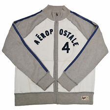 Aeropostale Mens Full Zip Track Jacket Long Sleeve Outerwear Sweatshirt New L