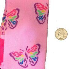 Pink Rainbow BUTTERFLY KNEE HIGHS SOCKS-Punk Novelty Lolita Kawaii Cheer-WOMEN