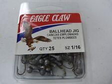Eagle Claw Jighead 1/16Oz Plain 25 Per Pack - JB00116UH