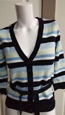 NEW ANN TAYLOR KNIT STRIPE MULTI COLOR PETITE SWEATER SIZE XSP