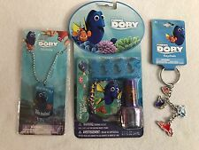 Disney Pixar Finding Dory Gift Pack Blue Dog Tag Necklace Nail Kit & Key Chain