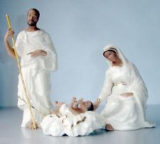 Lenox Oh Holy Night Ebony Nativity Family 3 PC Joseph Mary & Baby Jesus New