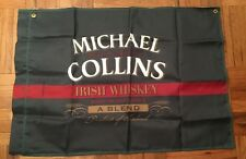 "NEW Michael Collins Irish Whiskey Green Nylon 29""x41"" Flag St Paddy's Day"