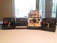 Lot of 4  Polaroid cameras SX-70 rainbow Q light part n repair   one Step