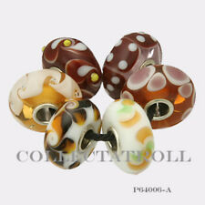 Authentic Trollbeads Sterling Silver  Unique Dice Kit - 6 Beads P64006 *A*