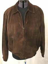Colebrook American Classics Men's Soft Dark Brown Leather Suede Jacket - Size XL
