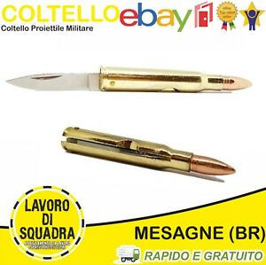 Coltello Militare Proiettile Tascabile Professionale Softair Outdoor COLLEZIONE