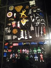 LOT Vintage Mighty Morphin Power Rangers action figure weapons parts accessories