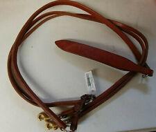 Dark Brown Harness Leather Romal Reins