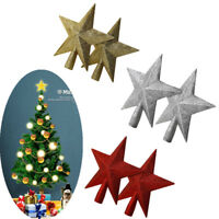 Christmas Tree Top Gold Star With Glitter Shiny Top Tree Decoration Topper 20cm