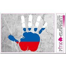 Aufkleber A4 - Russland - Hand - Fahne - bumper sticker car flag Flagge russia