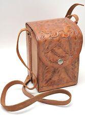 Vintage Hand Tooled Leather Camera Shoulder Bag - Gale Lewiston Mont